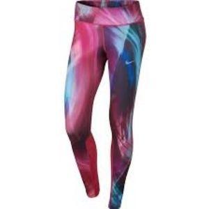 Nike Dri-Fit Multicolored Athletic Leggings SZ L